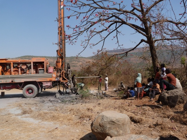Digging a bore well yields no water