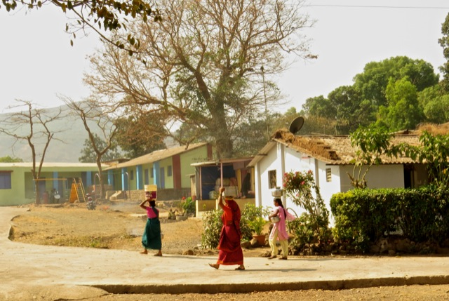Women carrying water in rural India